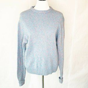 Woolrich Womens Sweater Blue Pink Marled Wool L